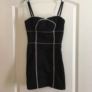 Guess Black/White/Sheen Mini Dress size 1